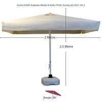 Şemsiye Evi 2X2 Mt Kare Avakado Bahçe Şemsiyesi İthal Kumaş 60-2021-20-S