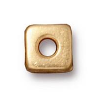 Tierra Cast Metal 1 Adet 6 Mm Altın Rengi Orta Küp Aksesuar Boncuk - 94-5789-25
