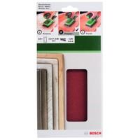 Bosch - Titreşimli Zımpara Kağıdı 10'Lu, 115 X 230 Mm 120 Kum 14 Delik