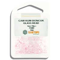 Kartopu 4 Mm Pembe Cam Kum Boncuk - 11.107