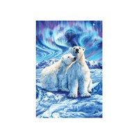Masterpieces Puzzle Polar Bear Lights (500 Parça)