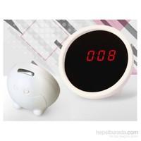 Hepsi Dahice LED Saatli Alarmlı Mini Güzellik Aynası