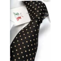 La Pescara Siyah Nokta Desenli Klasik Kravat Nk1383