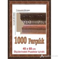 Polistiren Puzzle Çerçevesi Kahverengi 1000 Parça Puzzle İçin (68 x 48 cm.)