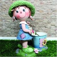 Giftpoint Çiçekçi Bahçıvan Kız Saksı