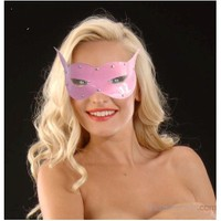 La Blinque Fantezi Deri Göz Maskesi (Pembe)