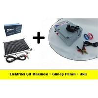 Elektrikli Çit Makinesi + Güneş Paneli +Akü Set