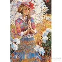 Gold 1000 Parça Şemsiyeli Kız Puzzle