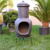 Greenmall Aztek Açık Hava Bahçe Şöminesi + Mangal Gri