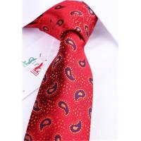La Pescara Kırmızı Şal Desen Slim Kravat Sk5231