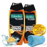 Palmolive Erkek Duş Jeli-Citrus Crush 500Ml 2'Li Set + Plaj Havlusu