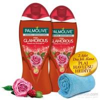 Palmolive Duş Jeli 500Ml Aroma Sensation Glamorous 2'Li Set + Plaj Havlusu
