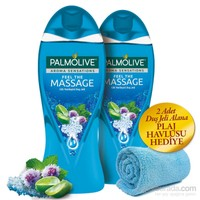 Palmolive Duş Jeli 500Ml Aroma Sensation So Massage 2'Li Set + Plaj Havlusu