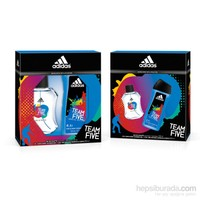 Adidas Team Five Edt 100 Ml Erkek Parfümü + Duş jeli 250 Ml Set