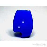 Gsk Renault Clio Anahtar Kabı Koruyucu Silikon Kılıf Mavi