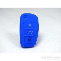 Gsk Audi Kumanda Kabı Koruyucu Kılıf 3 Tuş (Mavi)