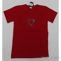 Lovetti Badi Taşlı Kısa Kol 341 Kırmızı