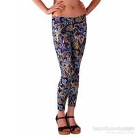 Redhotbest Paisley Pattern Fashion Tight - Şal Desenli Tayt