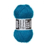 Kartopu Simli Kristal Mavi El Örgü İpi - K515
