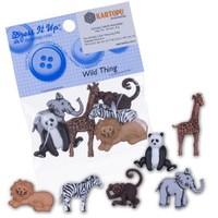 Kartopu Karışık Hayvanlar Dekoratif Düğme - 3600