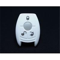 Gsk Mercedes Anahtar Kabı Koruyucu Kılıf 3 Tuş ( Beyaz )