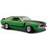 Maisto Ford Mustang Boss 1970 Diecast Model Araba 1:24 Special Edition Yeşil