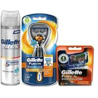 Gillette Fusion Proglide Power Flexball + 3 Yedek Bıçak + Jel