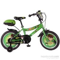 """Ümit 16"""" Ben10 Çelik Kadro V Fren 1 Vites Yeşil Unisex Çocuk Bisikleti"""