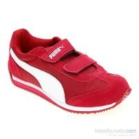 Puma Rio Speed Nylon V Kids Cerise-White-Fuch Çocuk Spor Ayakkabı 355568091 (25-35 numara)