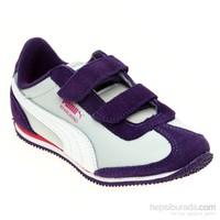 Puma Whirlwind L V Kids Parachute Purple-Gray Çocuk Spor Ayakkabı 28-35