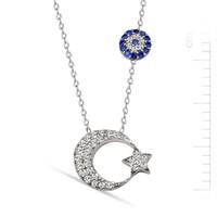 Bella Gloria Gümüş Ay Yıldız Kolye (GK00185)