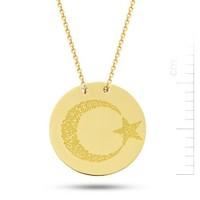 Bella Gloria 14 Ayar 3 Gr Altın Ayyıldız Plaka Kolye (PP78100)
