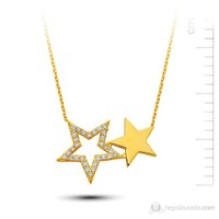 Bella Gloria Altın Çift Yıldız Kolye (Pp78176)