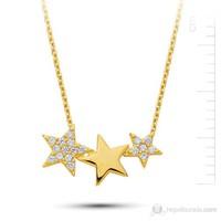 Bella Gloria Altın 3 Yıldız Kolye (Pp78178)