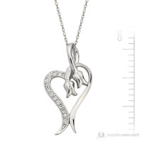 Bella Gloria Altın Kaplamalı Gümüş 'Kalpli Ters Lale' Kolye (GK00057)