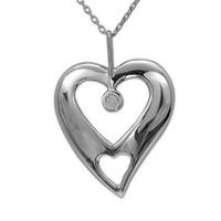 Ariş Pırlanta Pırlanta Kalp Gümüş Kolye