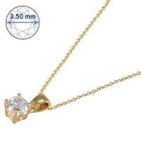 Goldstore 14 Ayar Altın Tek Taş Kolye Gsp15862
