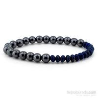 Solfera Lapis Lazuli Ve Hematit Doğal Taş Bileklik