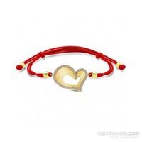 Aslaner Asimetrik Kalp Altın Bileklik