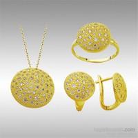 Sheamor Beyaz Benekler Sarı Altın Set
