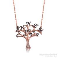Tekbir Silver Gümüş Annem Yazılı Hayat Ağacı Kolye