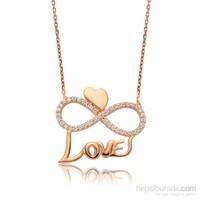 Gumush Gümüş Kalpli Sonsuzluk Love Kolye