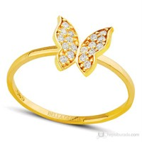 Bella Gloria Altın Kelebek Yüzük (PR78081)