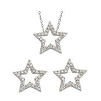 AltınSepeti Yıldız Motifli Gümüş Takım G10TK