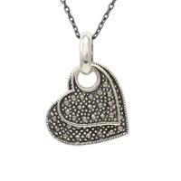 AltınSepeti Gümüş İkili Kalp Kolye G151KL