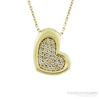 Altınsepeti Altın İçi Taşlı Kalp Kolye As619kl