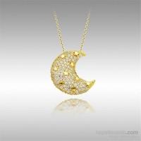 Sheamor Ay Yıldızlar Sarı Altın Kolye