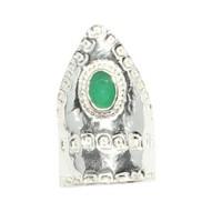 Nusret Takı 925 Ayar Gümüş Yeşim Taşlı Okçu Yüzüğü