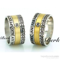 Berk Kuyumculuk Gümüş Alyans 5561 (Çift Fiyatı)