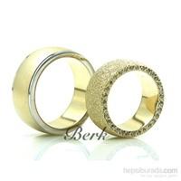 Berk Kuyumculuk Gümüş Alyans 5614 (Çift Fiyatı)